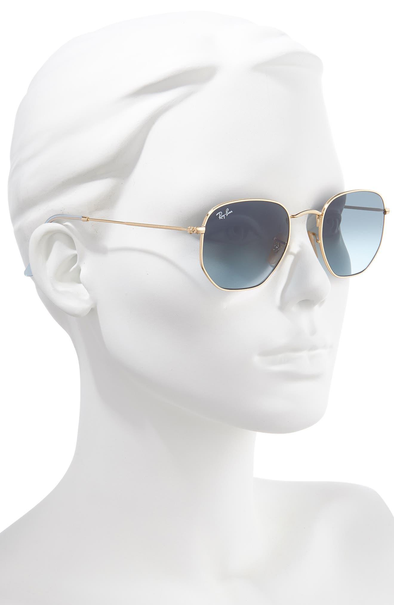 Ray-Ban 51Mm Aviator Sunglasses - Gold/ Blue Gradient
