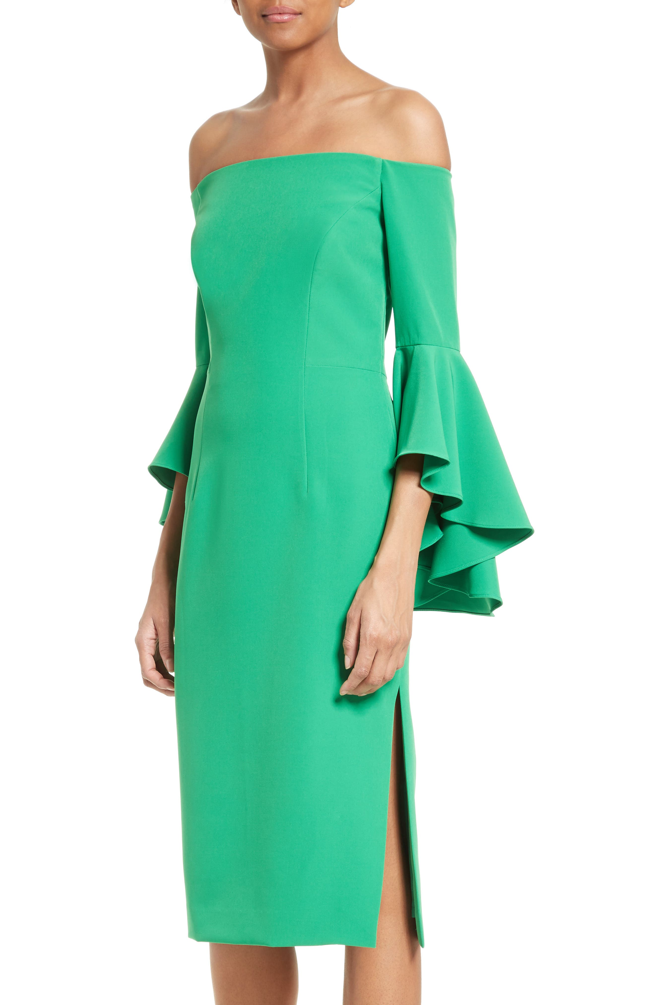 ,                             Selena Off the Shoulder Midi Dress,                             Alternate thumbnail 30, color,                             301