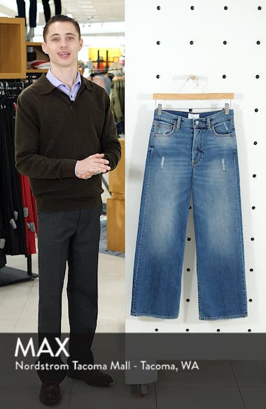 The Mikey High Waist Ankle Straight Leg Jeans, sales video thumbnail