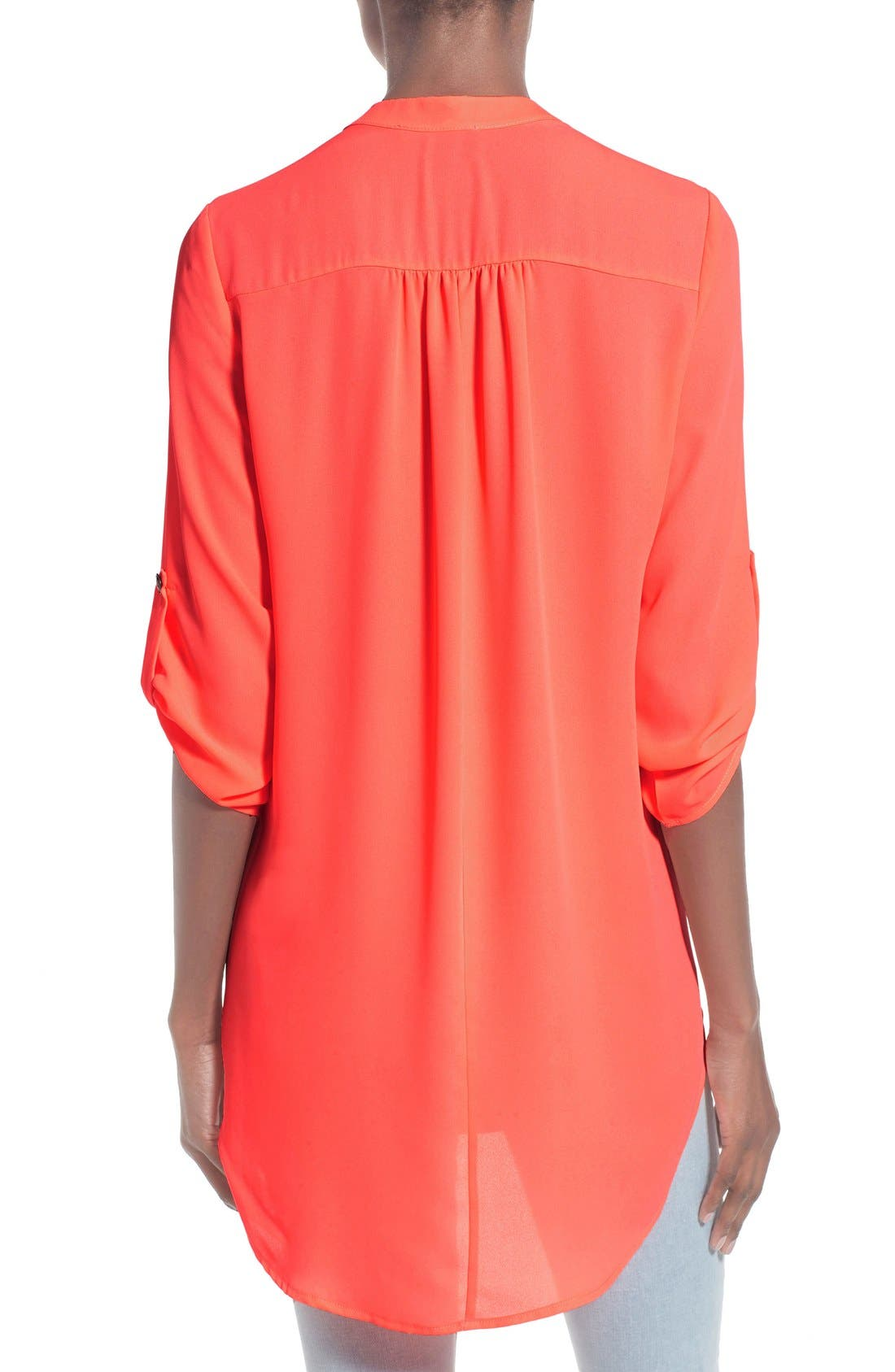 ,                             Perfect Roll Tab Sleeve Tunic,                             Alternate thumbnail 388, color,                             673