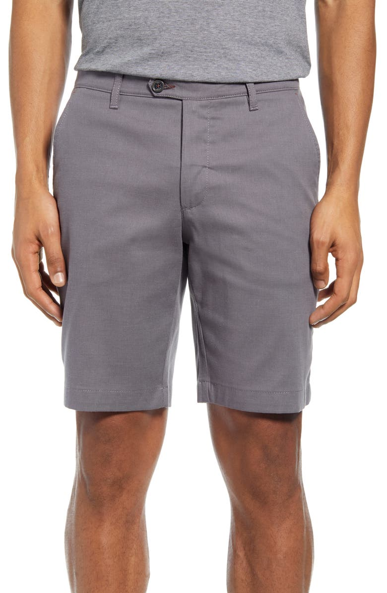 TED BAKER LONDON Cortrom Slim Fit Shorts, Main, color, LIGHT GREY