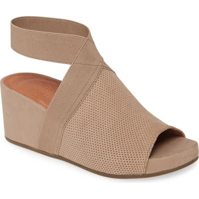 Gentle Souls Signature Gianna 2.0 Wedge Sandal- Brown