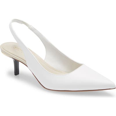 Michael Michael Kors Page Pointed Toe Pump- White