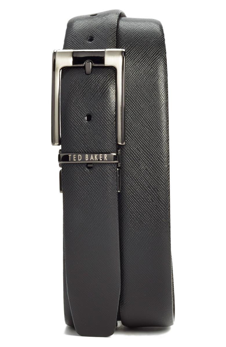 TED BAKER LONDON Reversible Leather Belt, Main, color, BLACK/ BROWN