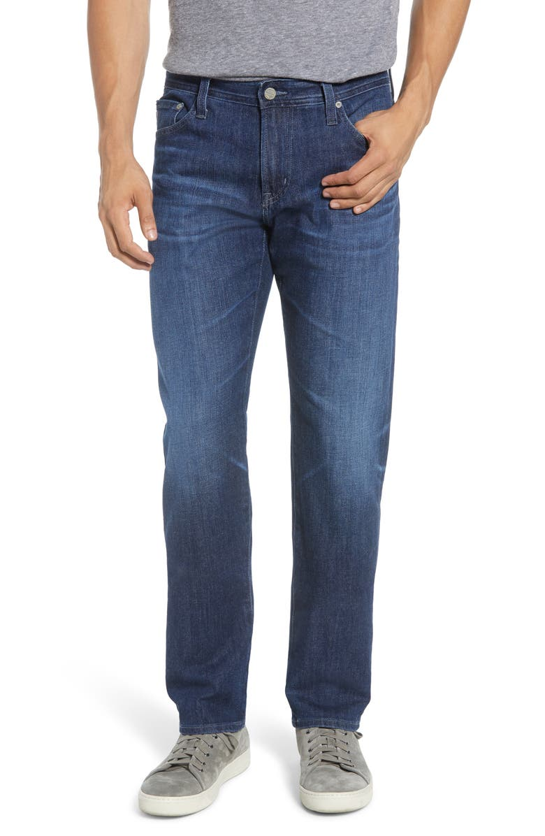 AG Graduate Slim Straight Fit Jeans, Main, color, 9 YEARS LINGUIST