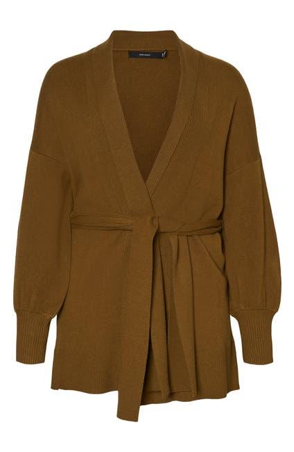 Image of VERO MODA Dolman Sleeve Shawl Collar Belted Cardigan