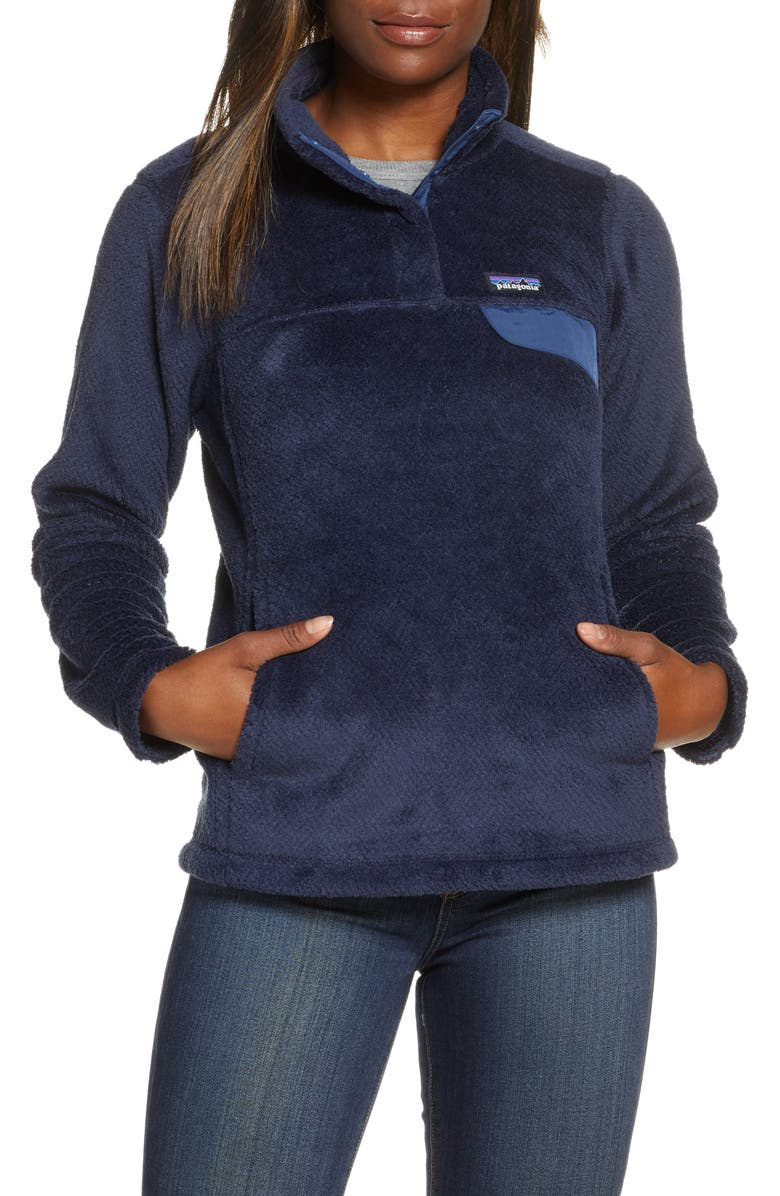 PATAGONIA Re-Tool Snap-T<sup>®</sup> Fleece Pullover, Main, color, NEW NAVY-DK NEW NAVY X-DYE