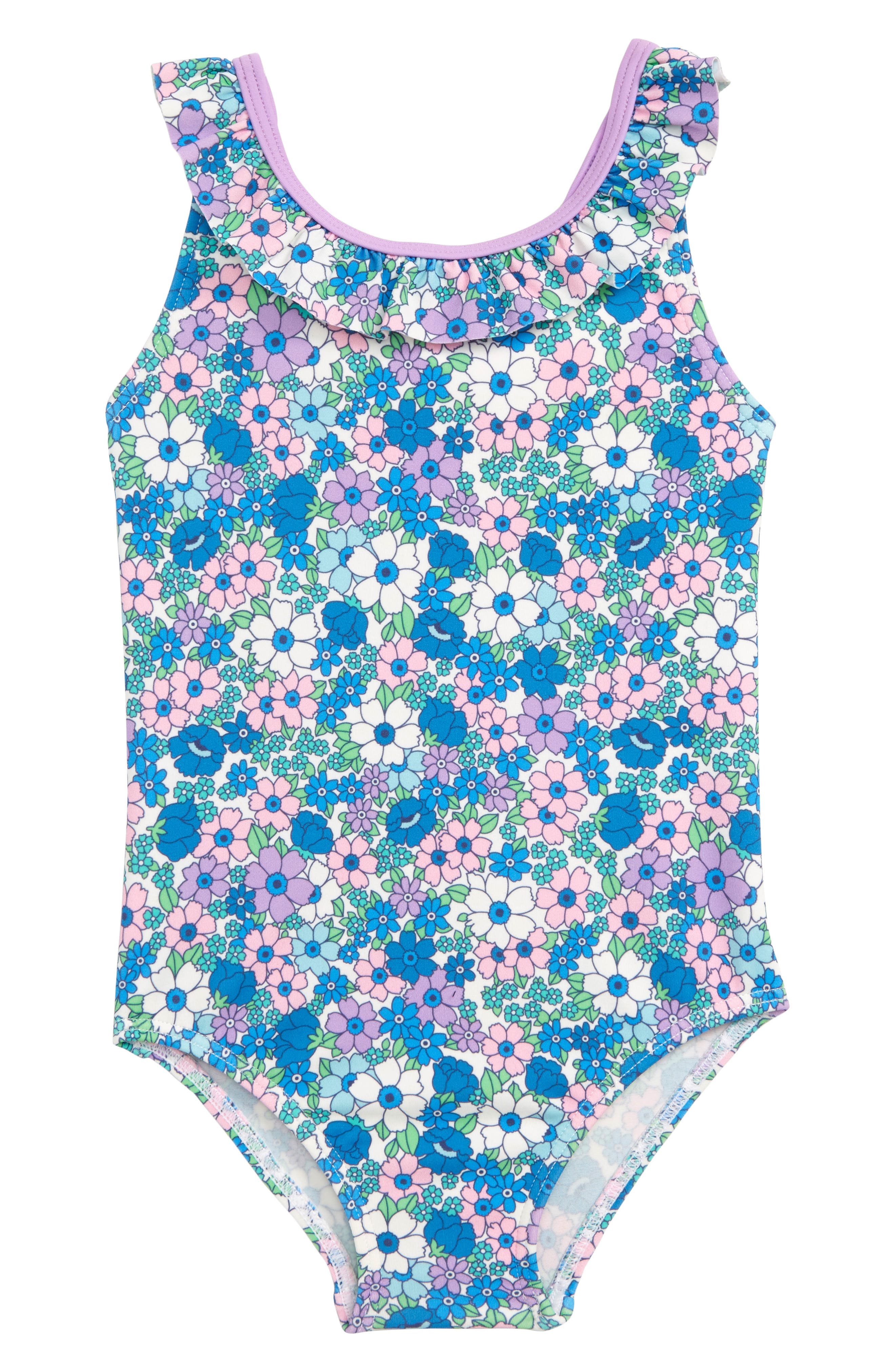 f322b8edb2658 Infant Girl's Mini Boden Bow One-Piece Swimsuit, Pink