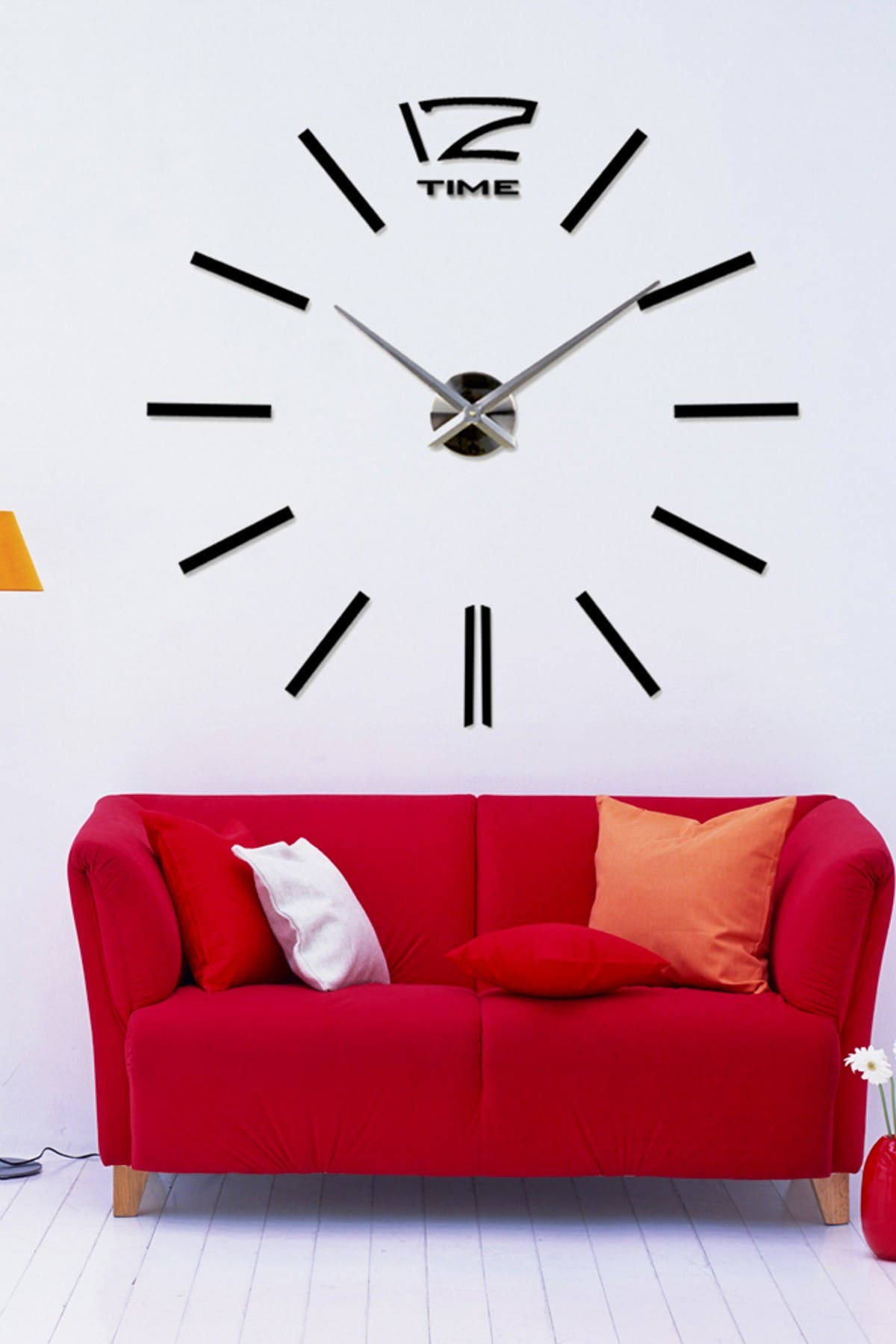 Image of WalPlus 3D Giant Wall Clock Black Decal