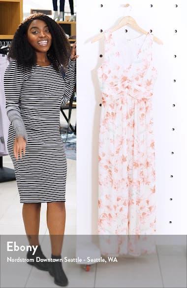 Ruched Waist Chiffon Maxi Dress, sales video thumbnail