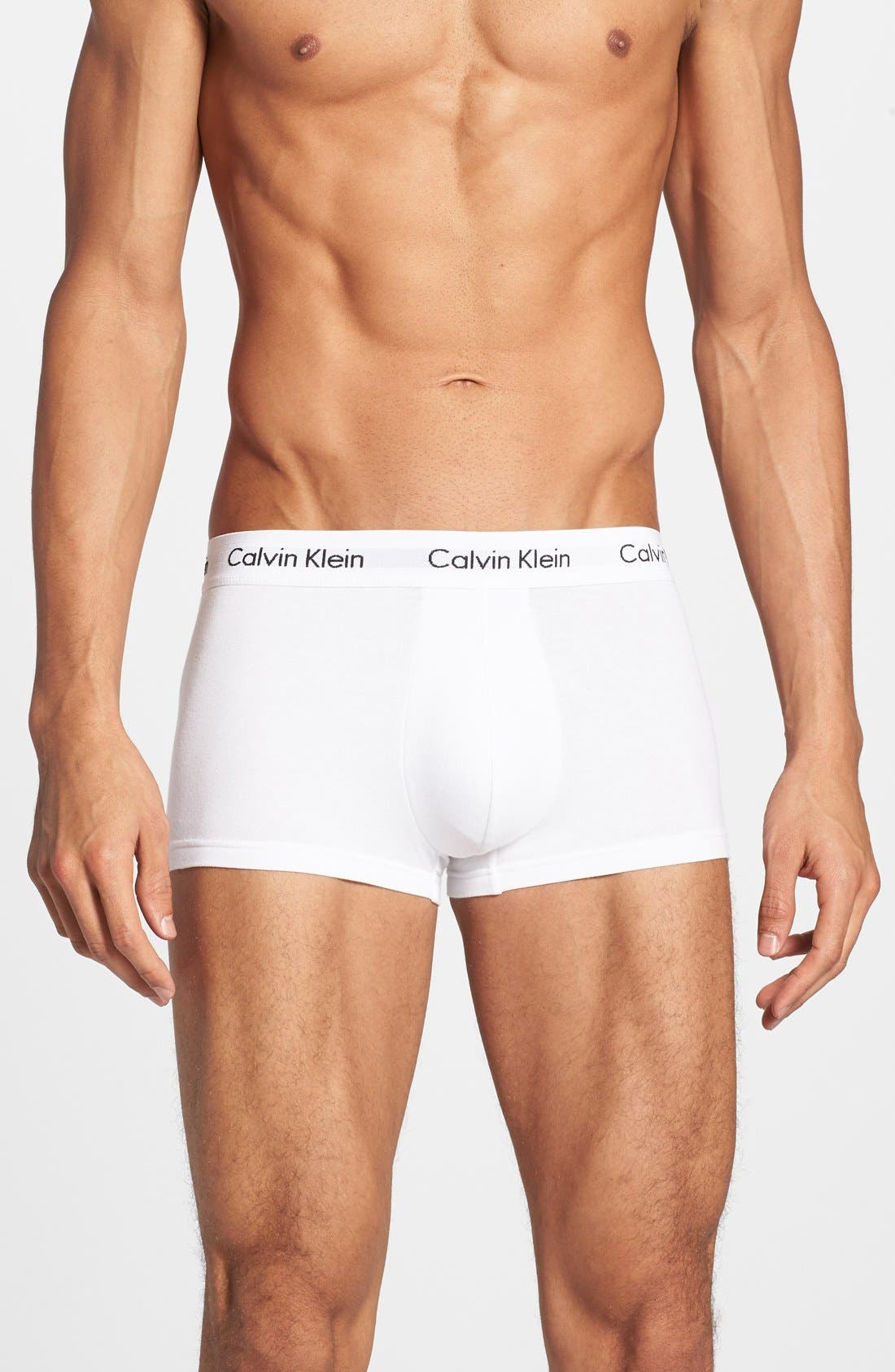 ,                             3-Pack Stretch Cotton Low Rise Trunks,                             Main thumbnail 159, color,                             100