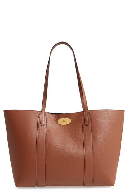 de7c69fb66 Mulberry Bayswater Leather Tote - Brown In Oak/ Oxford Blue ...