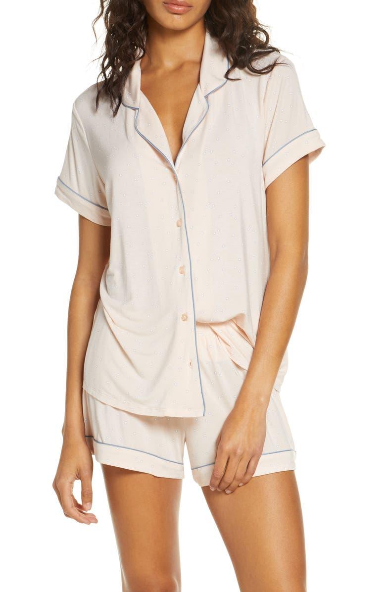 NORDSTROM LINGERIE Moonlight Short Pajamas, Main, color, PINK WISP FLORAL DOT