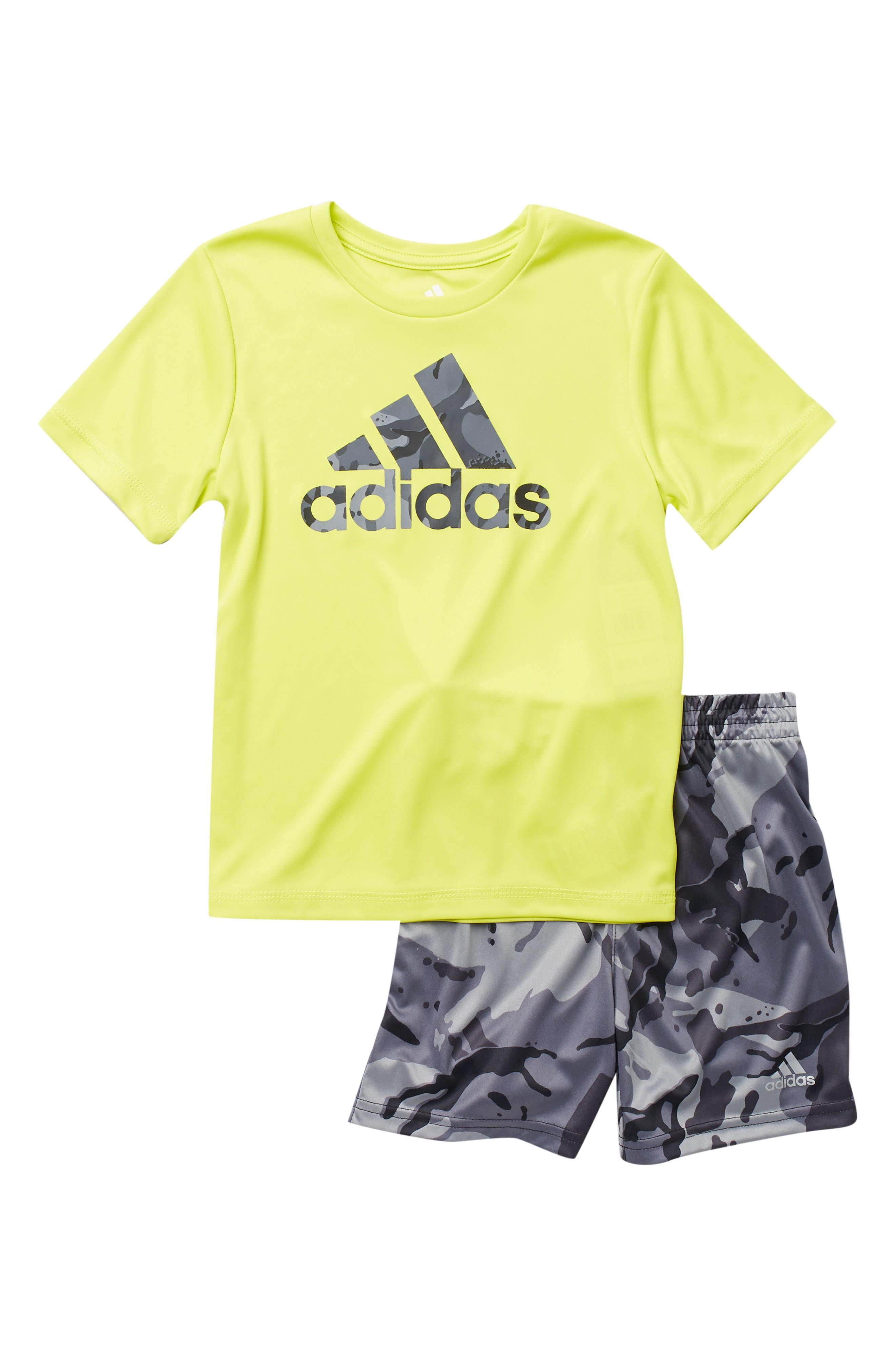Image of adidas Classic Tee & Camo Shorts 2-Piece Set