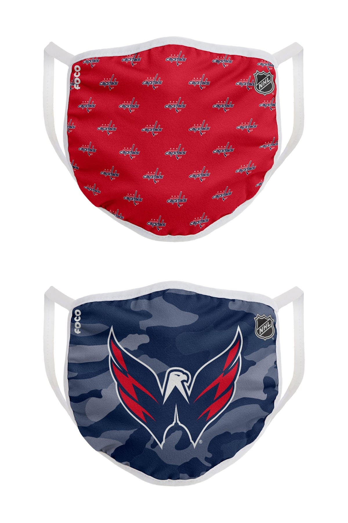 Image of FOCO NHL Washington Capitals Clutch Printed Face Cover - Pack of 2