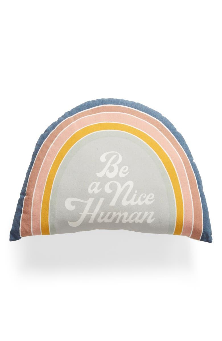BP. Rainbow Accent Pillow, Main, color, GREY VAPOR MULTI