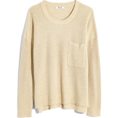 Plus Size Madewell Thompson Pocket Pullover Sweater, Size - Beige