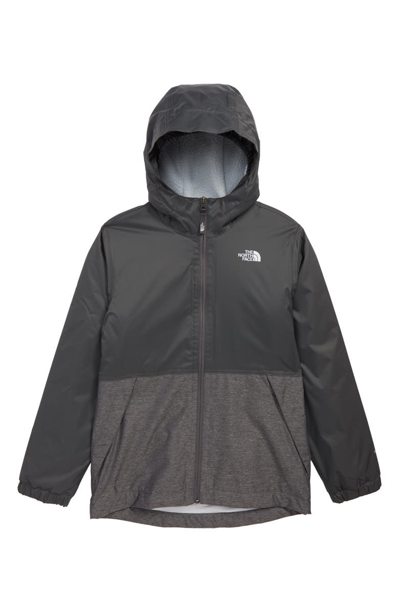 THE NORTH FACE Warm Storm Hooded Waterproof Jacket, Main, color, GRAPHITE GREY