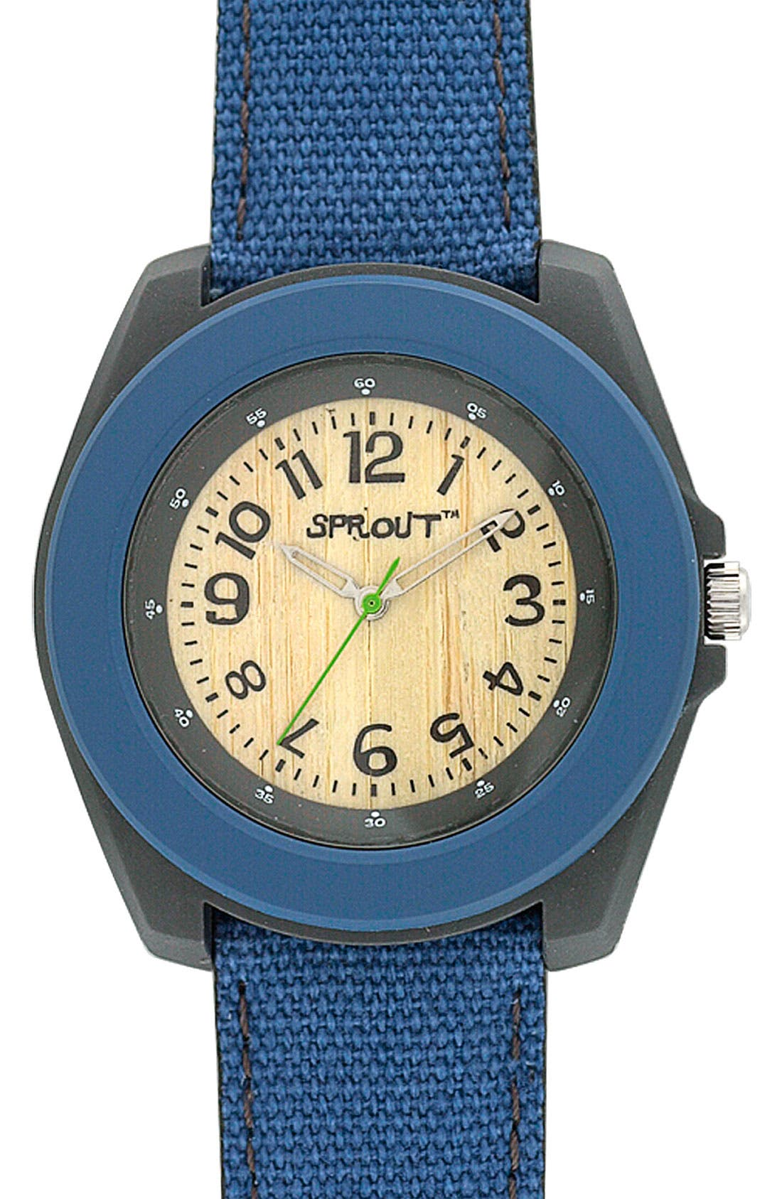 ,                             Organic Round Case Watch,                             Main thumbnail 4, color,                             400