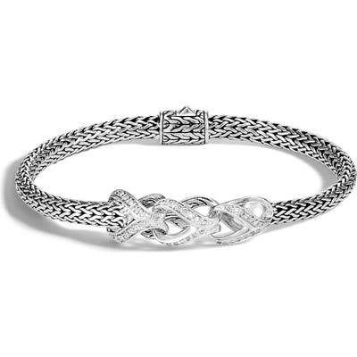 John Hardy Asli Classic Chain Link Pave Diamond Extra Small Bracelet