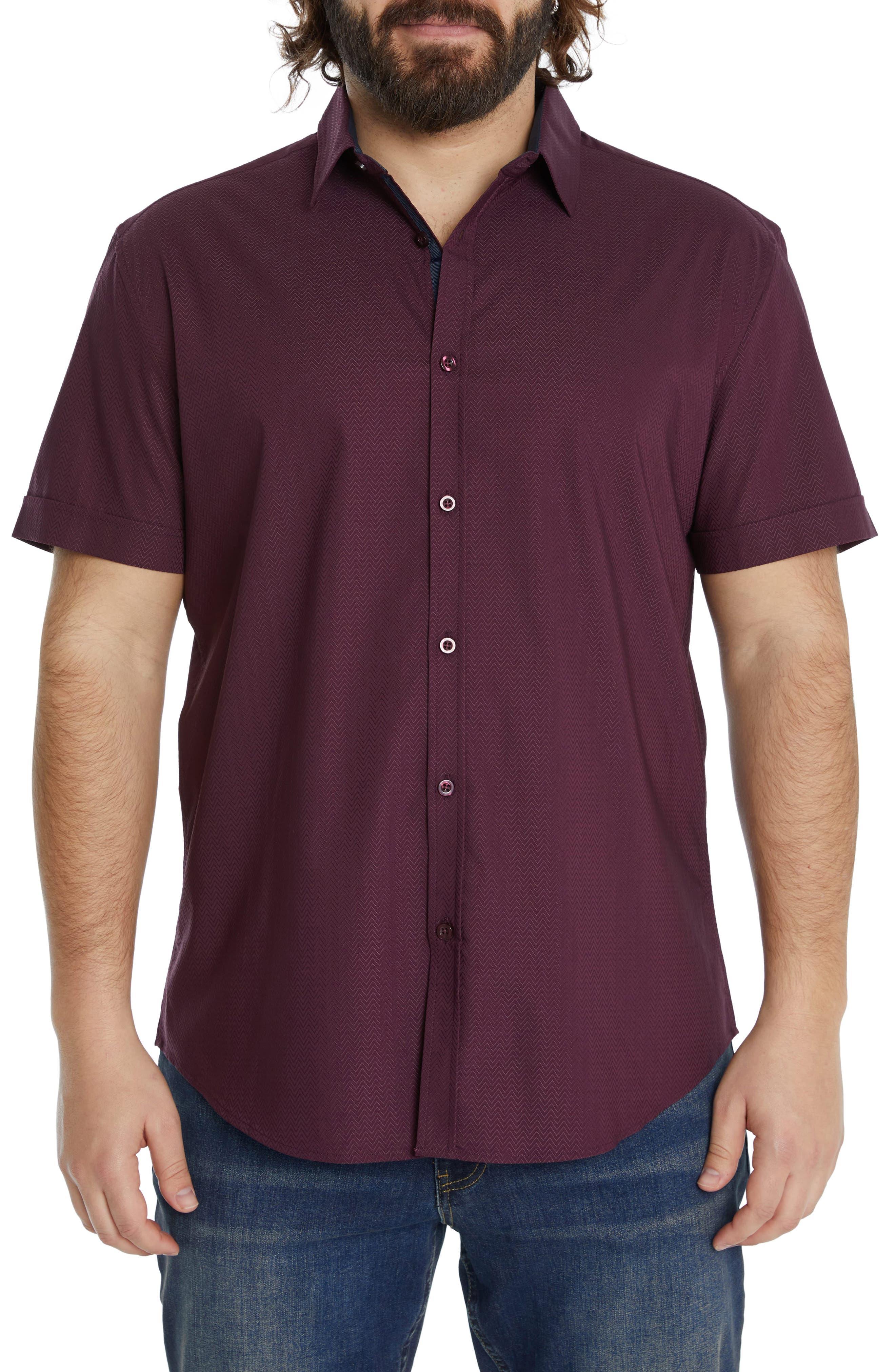 Emile Stretch Short Sleeve Button-Up Shirt