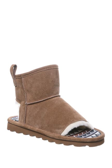 Image of BEARPAW Molly Suede Faux Fur Trim Slipper Boot