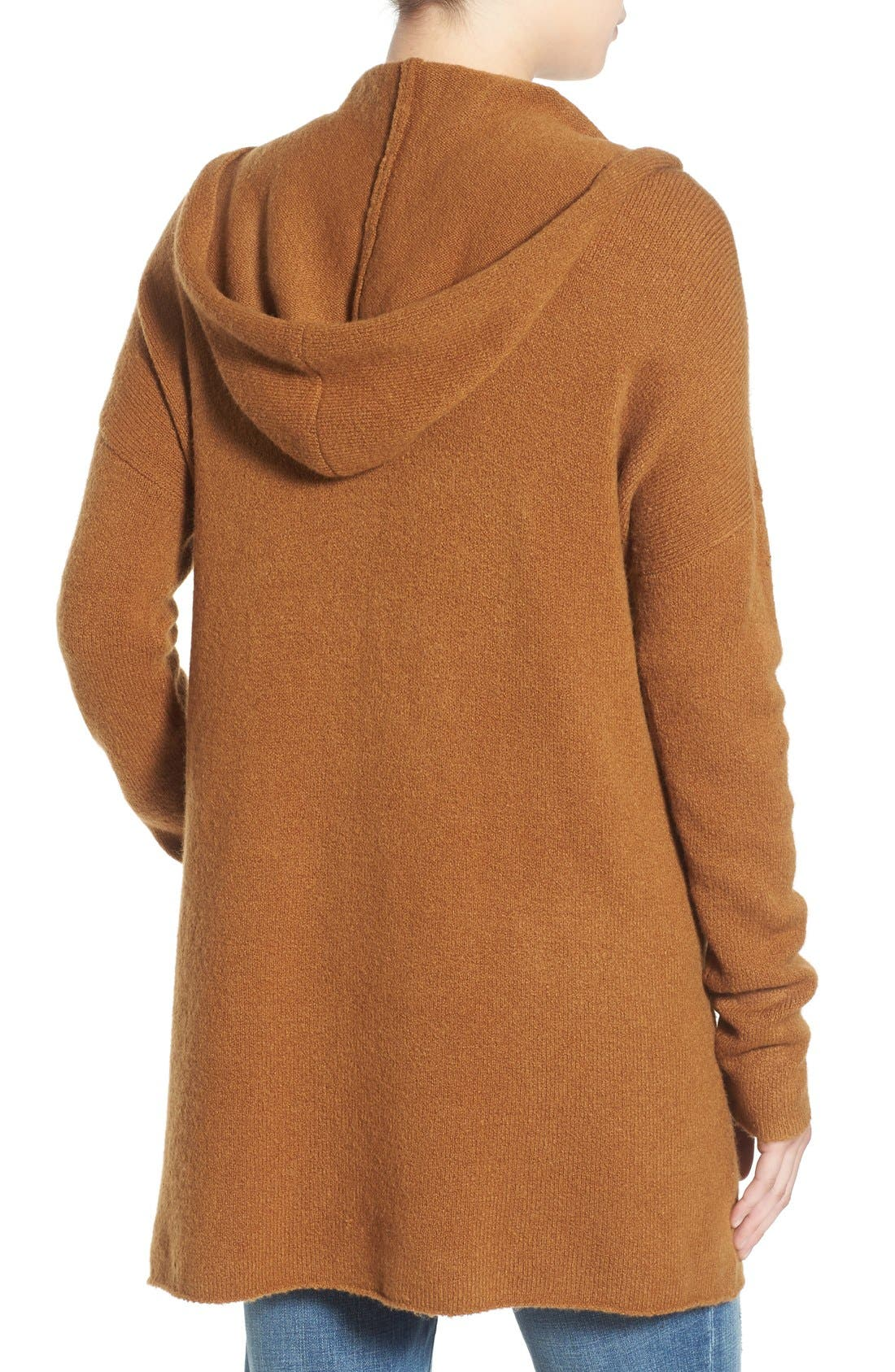 ,                             Hooded Longline Cardigan,                             Alternate thumbnail 7, color,                             236