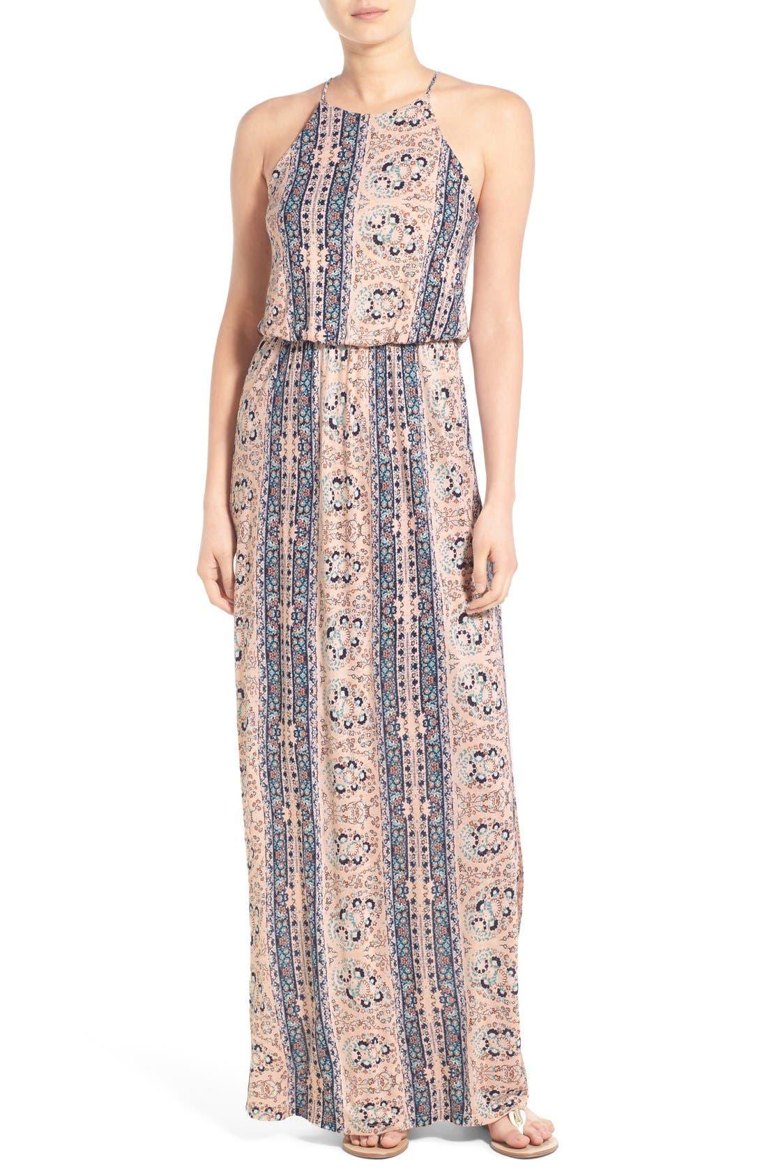 ,                             High Neck Maxi Dress,                             Main thumbnail 72, color,                             252