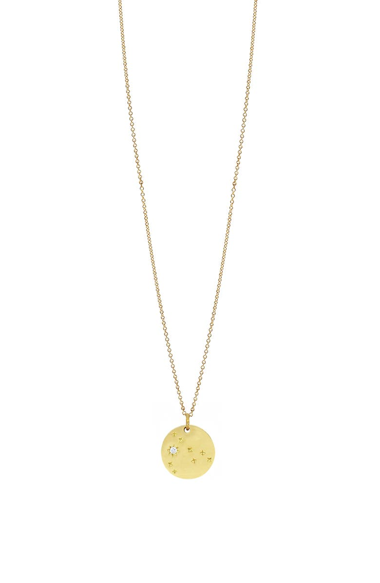 BONY LEVY Kiera Astrological Sign Diamond Pendant Necklace, Main, color, YELLOW GOLD - PISCES