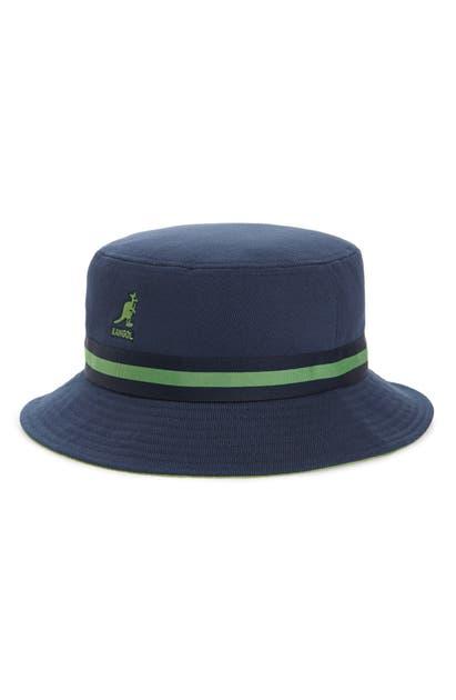 Kangol Hats LAHINCH STRIPE RIBBON BUCKET HAT - BLUE
