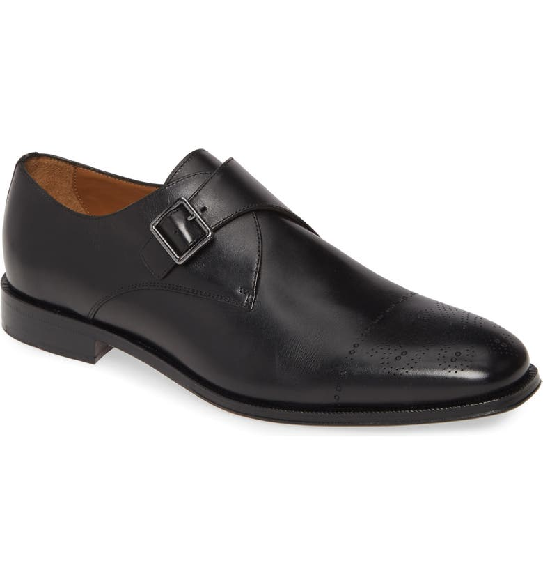 BOSS Newport Double Monk Strap Shoe, Main, color, 002