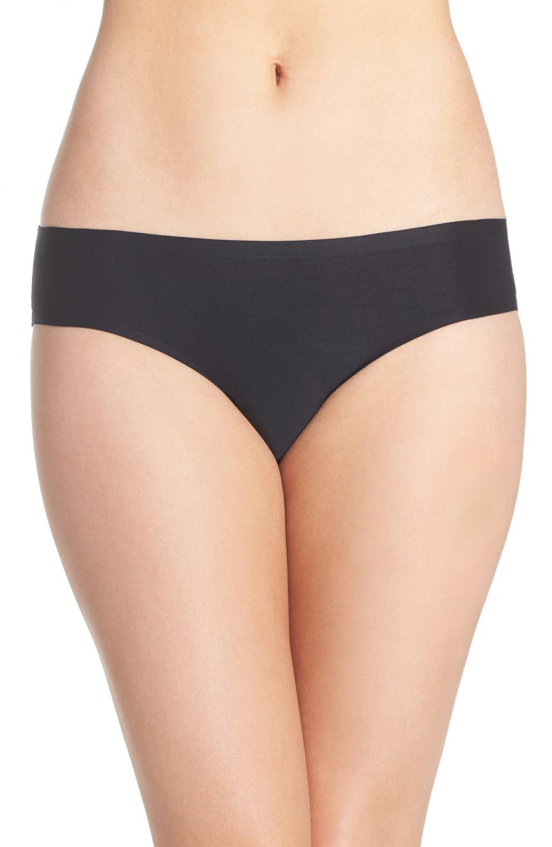 CHANTELLE LINGERIE Soft Stretch Seamless Bikini, Main, color, BLACK