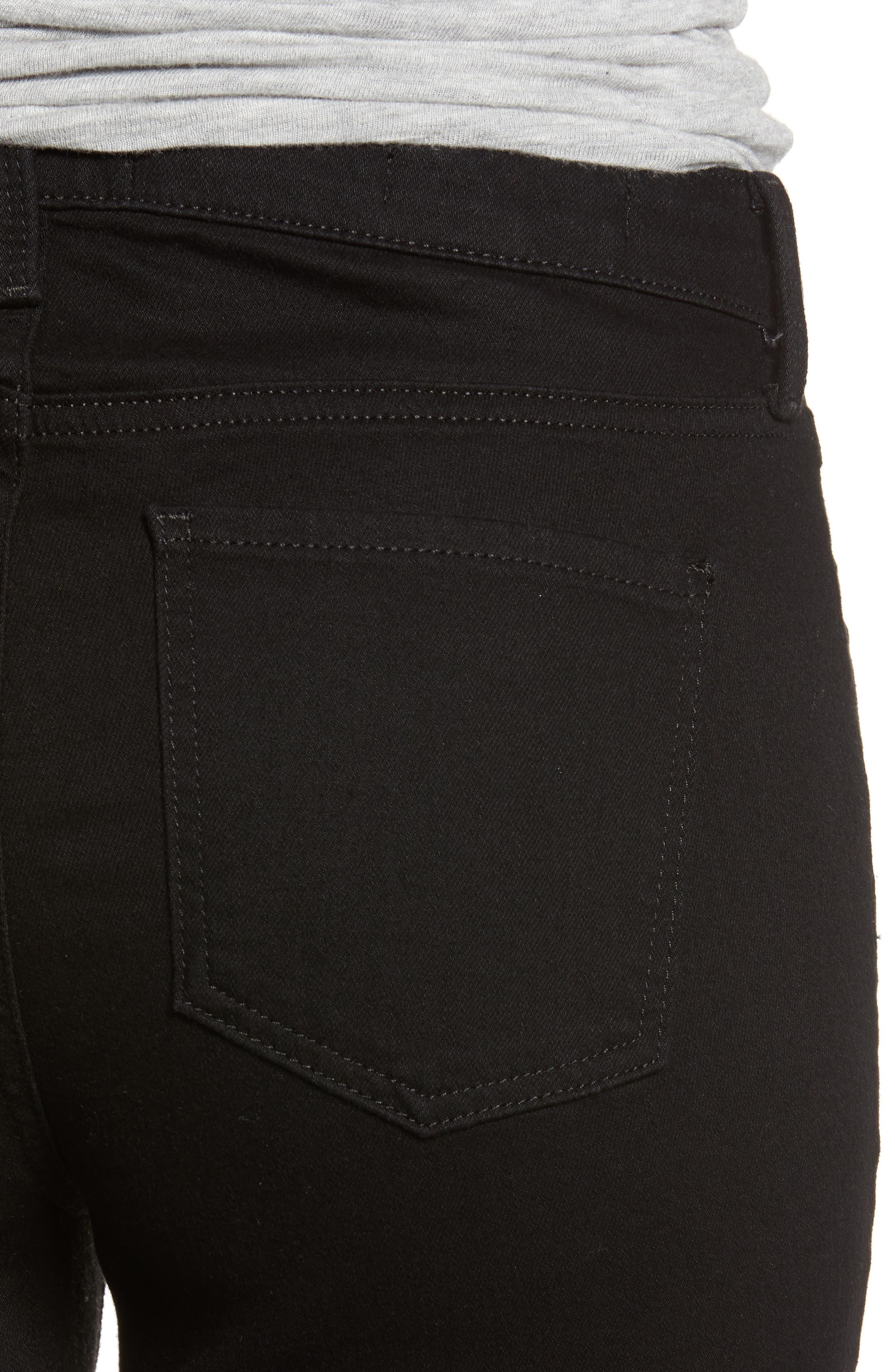 ,                             Ami High Waist Stretch Super Skinny Jeans,                             Alternate thumbnail 5, color,                             BLACK