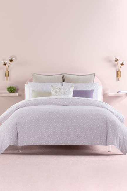 Image of kate spade new york lavender breeze blocks king comforter 3-piece set