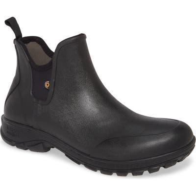 Bogs Sauvie Waterproof Chelsea Boot, Black