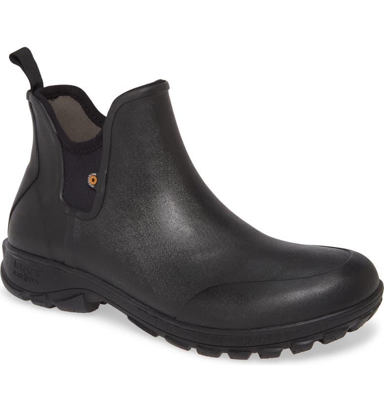 BOGS Sauvie Waterproof Chelsea Boot, Main, color, BLACK