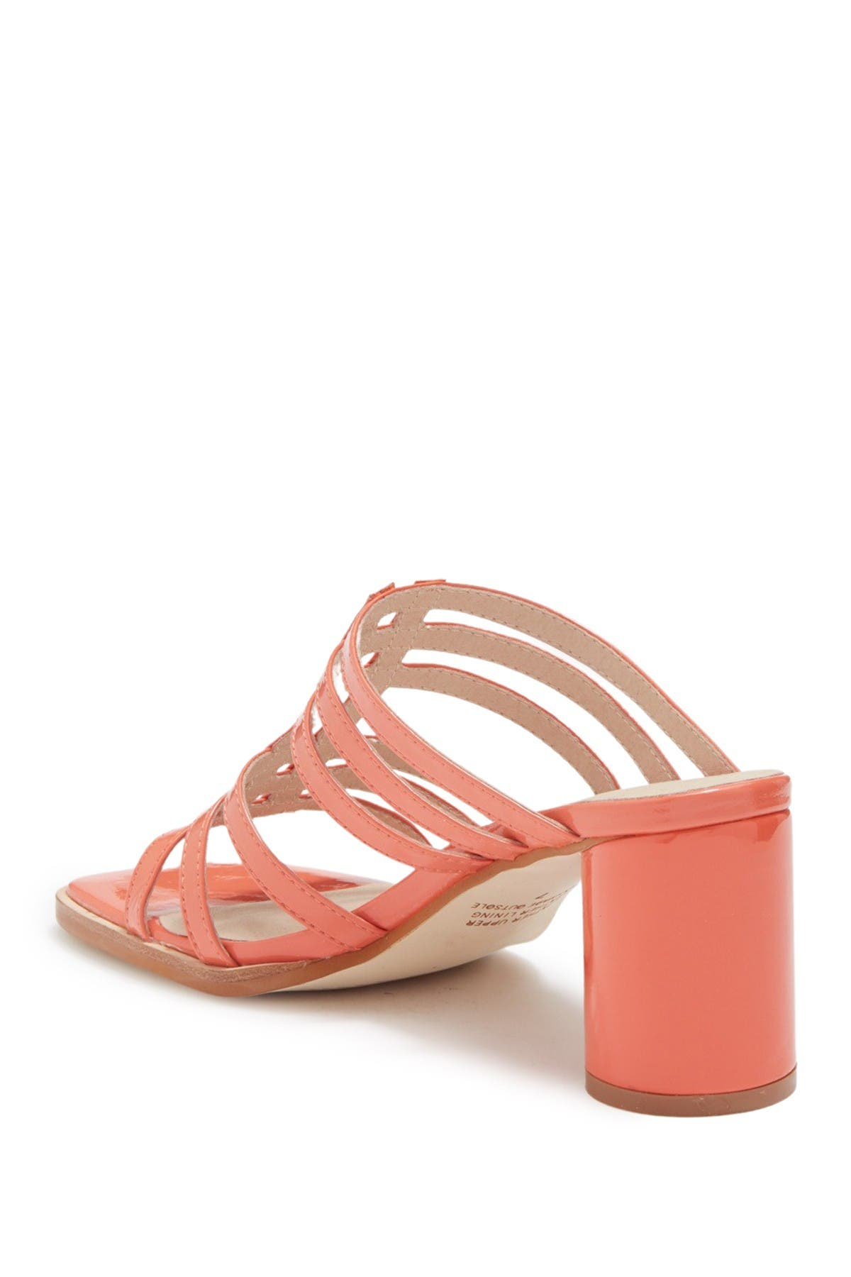 Image of Intentionally Blank Stamps Coral Patent Strappy Sandal