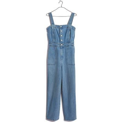 Madewell Stitched Strap Denim Jumpsuit, Blue