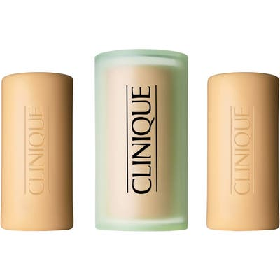 Clinique Three Little Soaps With Travel Dish