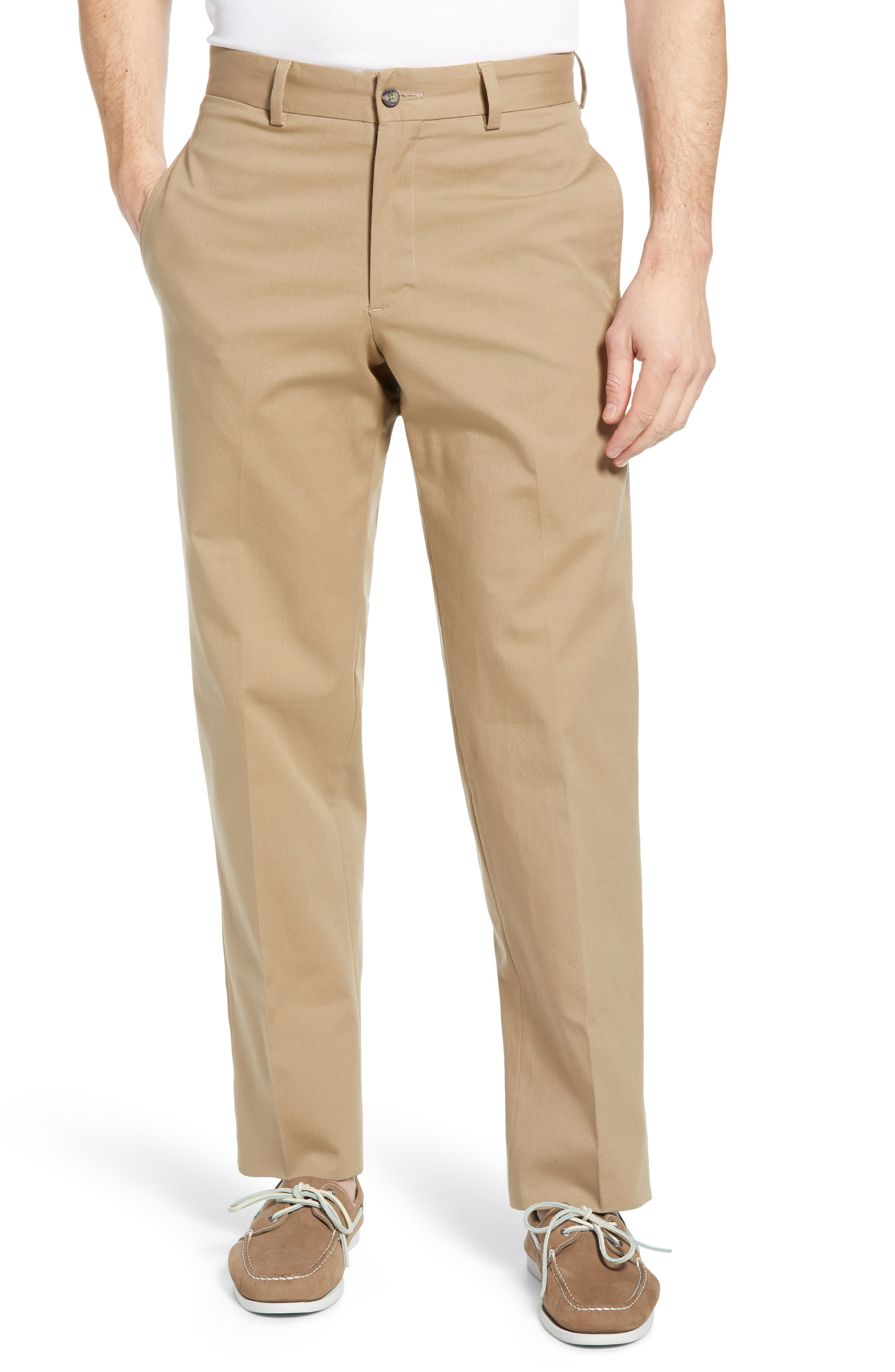Charleston Flat Front Stretch Canvas Pants