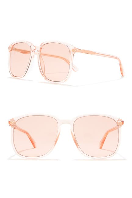 Image of GUCCI 55mm Rounded Square Sunglasses