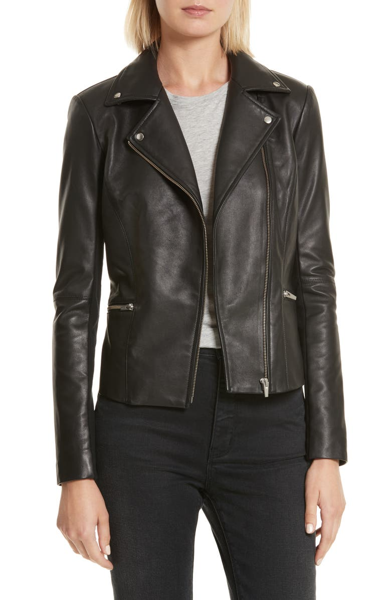 VEDA Dallas Orion Lambskin Leather Jacket, Main, color, 001