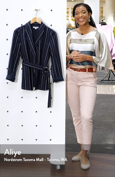 Multistripe Tie Waist Jacket, sales video thumbnail