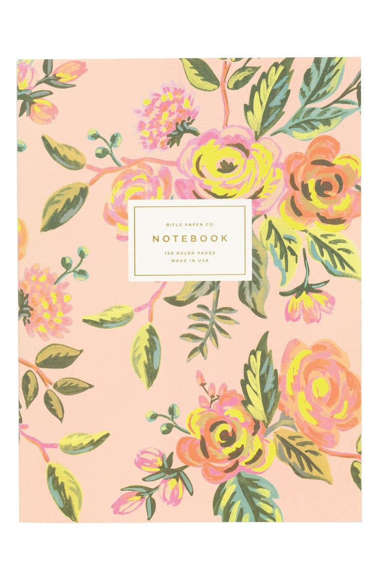 RIFLE PAPER CO. 'Jardin de Paris' Ruled Notebook, Main, color, 650