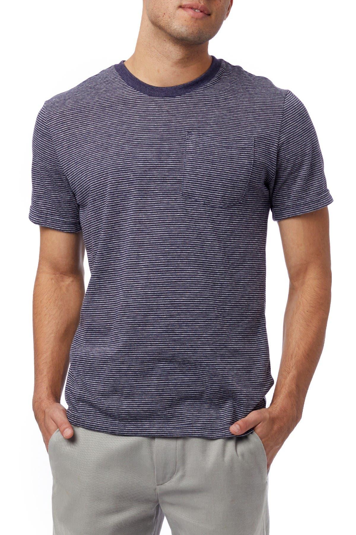 Image of Alternative Striped Pocket T-Shirt