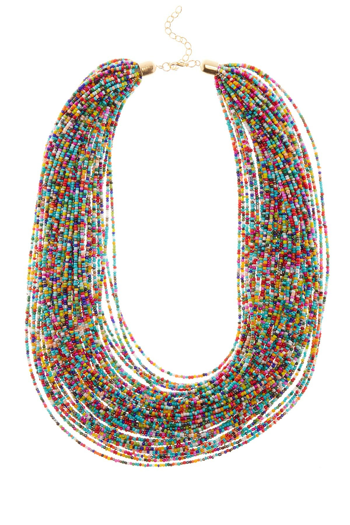 Image of Eye Candy Los Angeles Sparkly Multi String Necklace