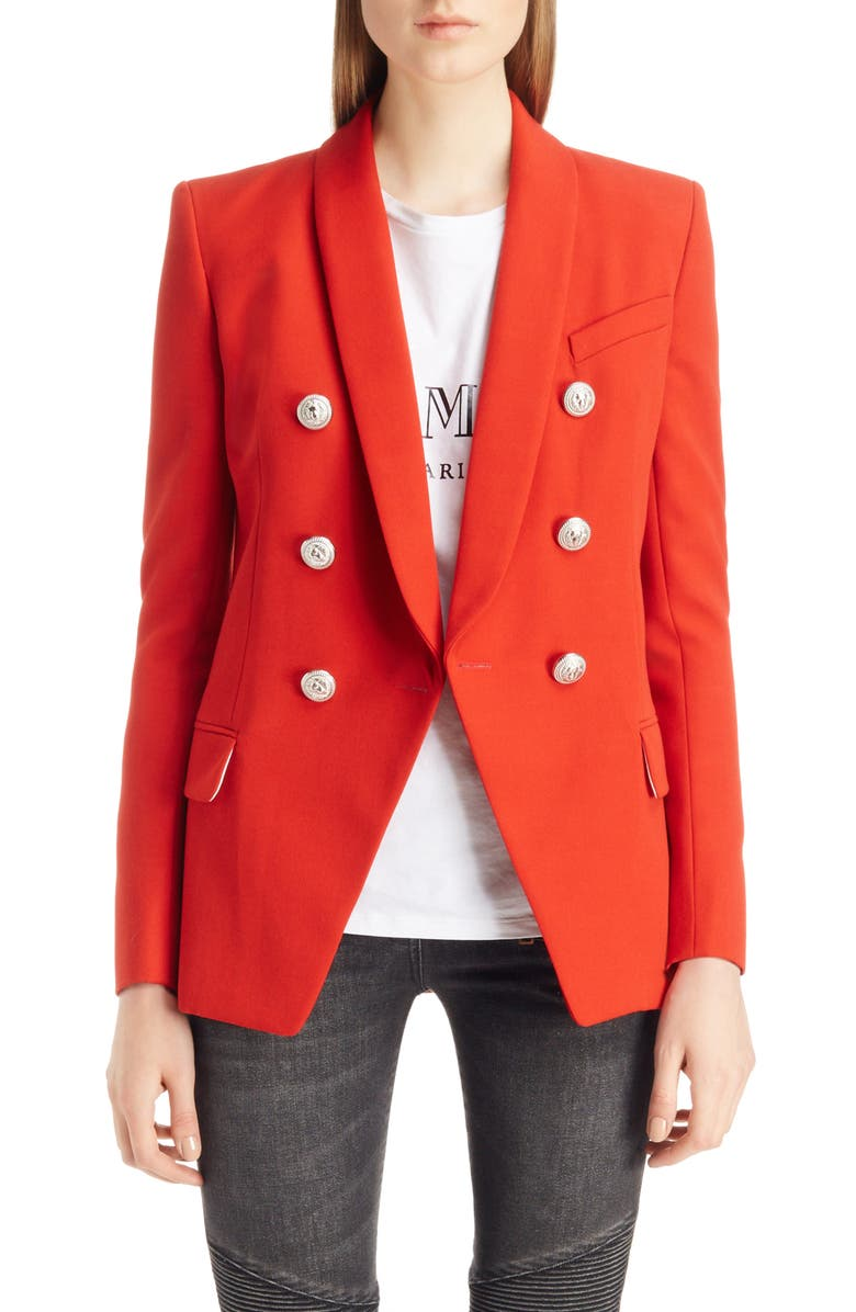 3447d9169 Balmain Oversize Wool Blazer | Nordstrom