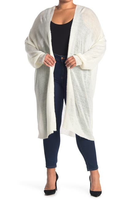 Image of NYDJ Open Front Featherweight Long Cardigan