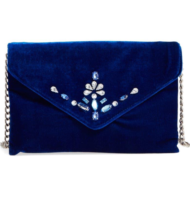 BP. Jeweled Flap Clutch, Main, color, 410