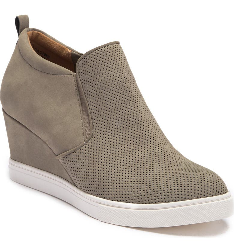 SUSINA Areya Wedge Sneaker, Main, color, LT GREY FAUX NUBUCK